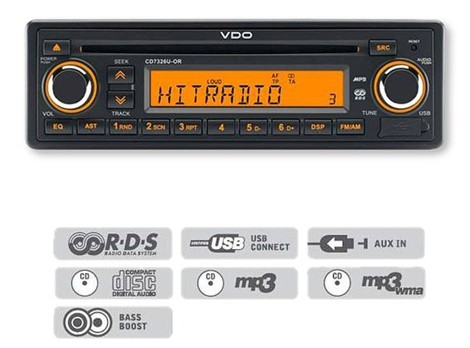 CD7326U-OR VDO 24 Radio -with cd player