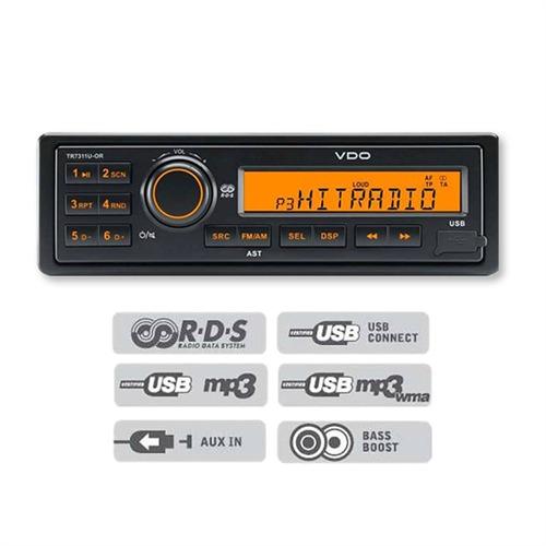 VDA TR7322U-OR 24V Radio