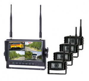 wireless monitor and four cameras